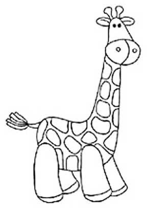Veja alguns desenhos de girafas para utilizar a técnica de patchwork